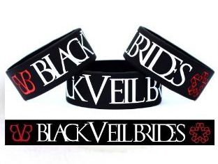 Black Veil Brides Silicone Rubber Wrist Band