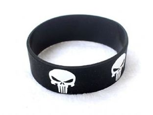 Marvel Punisher Skull Silicone Wristband